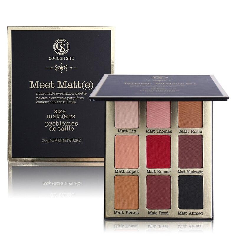 Professionelle Make-up-marke 9 Farbe Erfüllen Matt (e) Lidschatten Lidschatten-palette Nackt Matte Lidschatten-palette Bilden Kosmetik natürliche