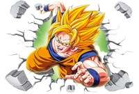 10pcs/Pack Dragon Ball Z Goku 3D Kids Anime Break Wall Stickers Decor Decal 471 Free Shipping Customized custom acceptab