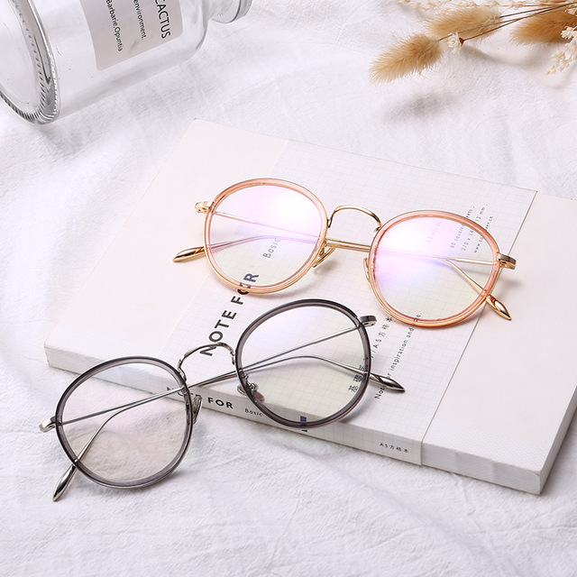 2018 Hot Sale The South Korean Version Of Round Frame Glasses Tr90