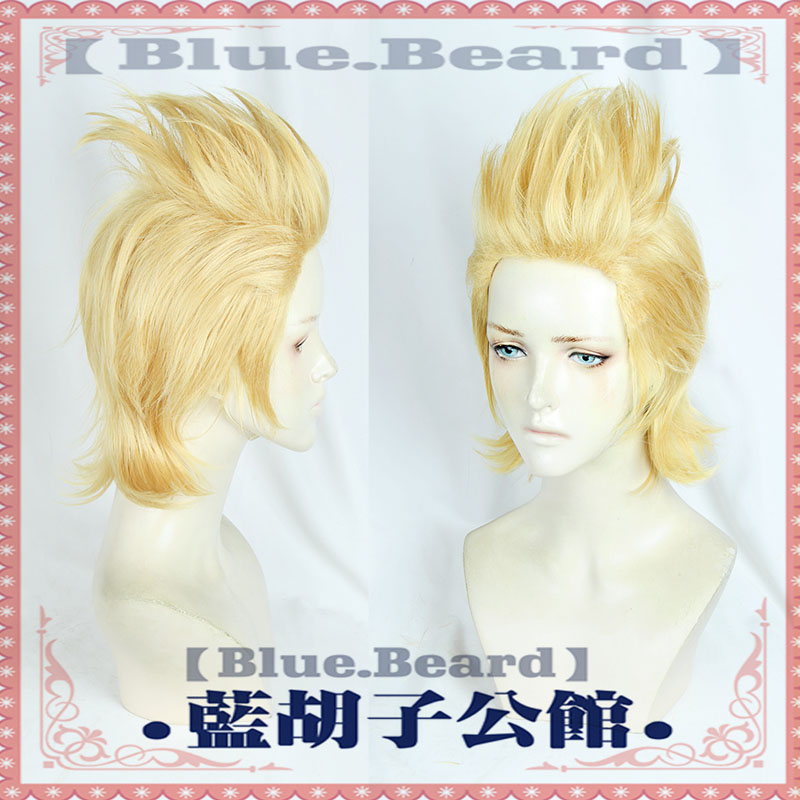 High Qualtiy <font><b>Mirio</b></font> Toogata Golden Short Wig <font><b>Cosplay</b></font> Boku no Academia <font><b>Cosplay</b></font> Wigs Role Play My Hero Academia Hair + Wig Cap image