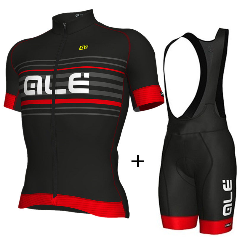 2018 Brands Summer Cycling Clothing Men/Breathable Quick-Dry Bike Jersey/Bicycle Clothes Wear ALE Cycling Jerseys Set aubig cool unisex ladies men summer breathable elasctisch cycling clothing full zip jerseys radshorts suit