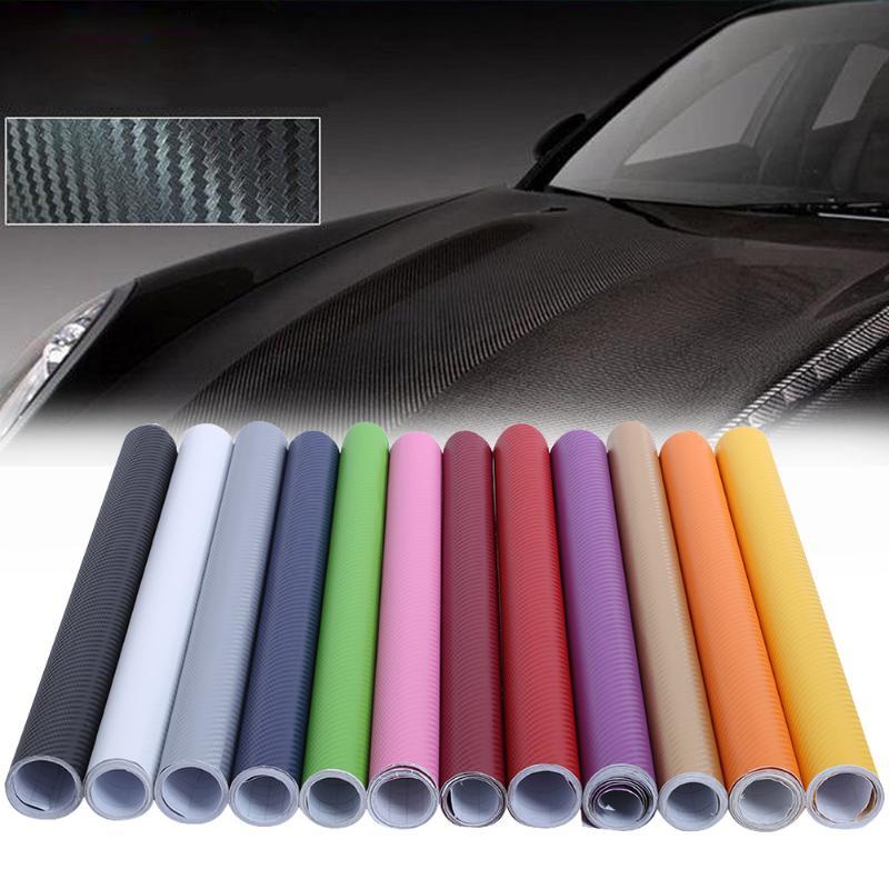 200*50 см 3D углеродного волокна наклейка на автомобиль винил обернуть мотоцикл тележки автомобиля ноутбука наклейка рулон эластичный ПВХ Анти-УФ Защита пленка