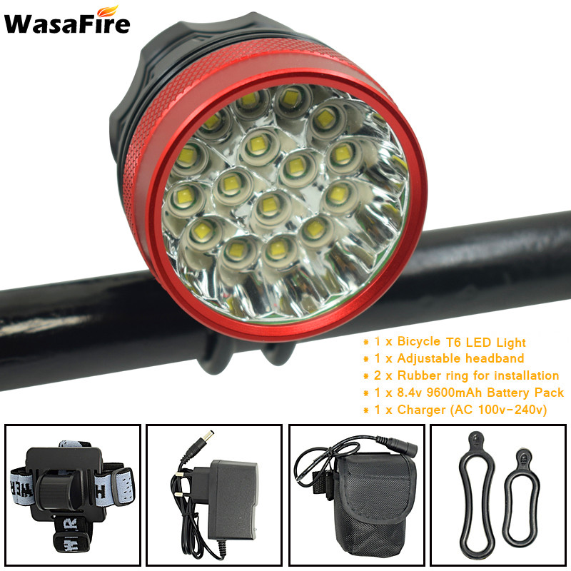 WasaFire 40000lm 16x XML T6 LED 3Modes Bicycle Light Led farol Bike front Light luz bicicleta Headlight Lamp Bike Accessories