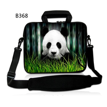 Beautiful Panda Customizable Neoprene laptop computer bag 10 12 13 14 15 15.6 17.three 17inch laptop computer shoulder bag pocket book sleeve case cowl
