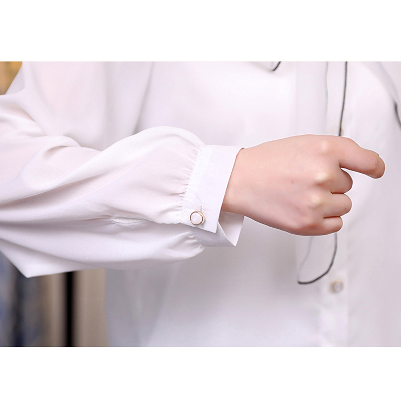 Shirt Women Autumn Fashion Blouses Femininas Elegant Organza Bow Long Sleeved Shirt Chiffon Shirts Blouse White Tops Blusas in Blouses amp Shirts from Women 39 s Clothing
