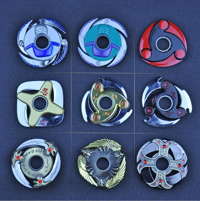 Fidgeted Cube Spinner Toys Rotary Tri-spinner Naruto Shuriken Naruto Dragon Blade Sword in Hand with Bearing Rotating Darts
