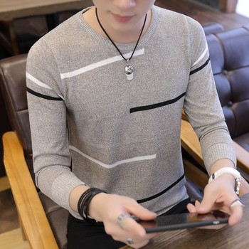 Long Sleeve Cotton Warm Knit Sweater For Men