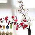 Искусственные шелковые цветы Япония Слива вишня Искусственные цветы Флорес Сакура ветви дерева Свадебные украшения для дома комнаты A6940