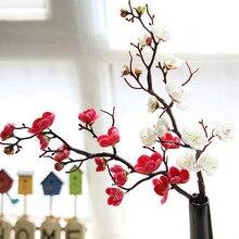 Künstliche Seide Blumen Japan Pflaume Kirschblüten Gefälschte Blumen flores Sakura Baum Niederlassungen Hochzeit Hause Raum Dekoration A6940