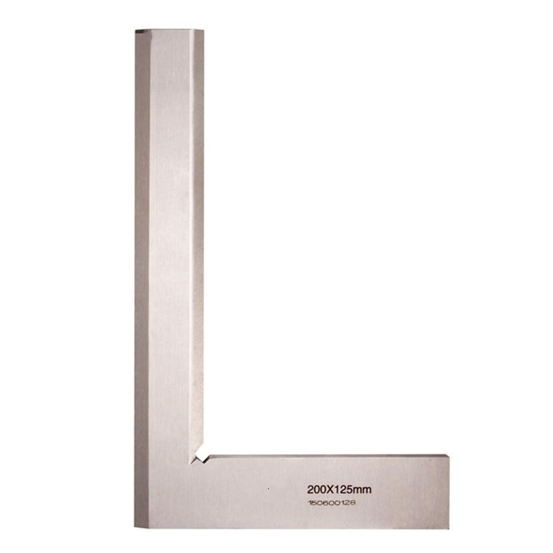 цена на 200*125mm Angle Square 90 Degree Angle Blade Ruler Gauge Measuring Tool