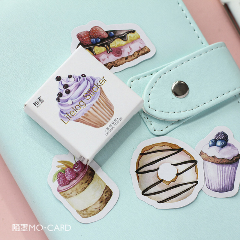 45 Pcs/lot Birthday Cake Mini Paper Sticker Package DIY Diary Decoration Sticker Album Scrapbooking