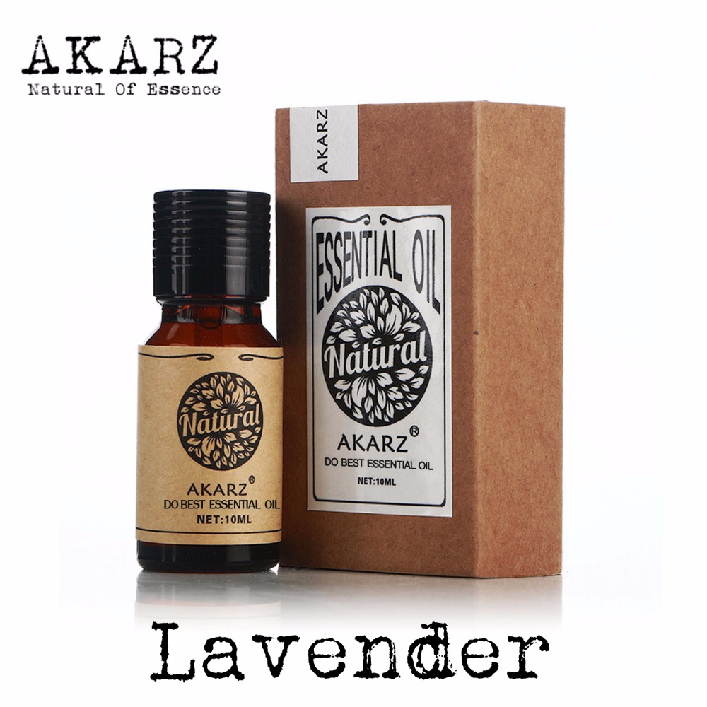 AKARZ Famous brand natural aromatherapy lavender essential oil acne Scar repair Help sleep skin care slimming lavender oil meijuya aromatherapy essential oil lavender scent 10ml