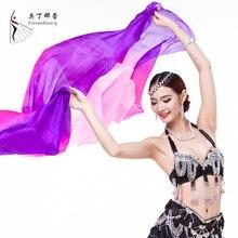 Seda Velo Danza Del Vientre Accesorios Belly Dance Performance Etapa de Seda Velo danza Del Vientre velo de seda