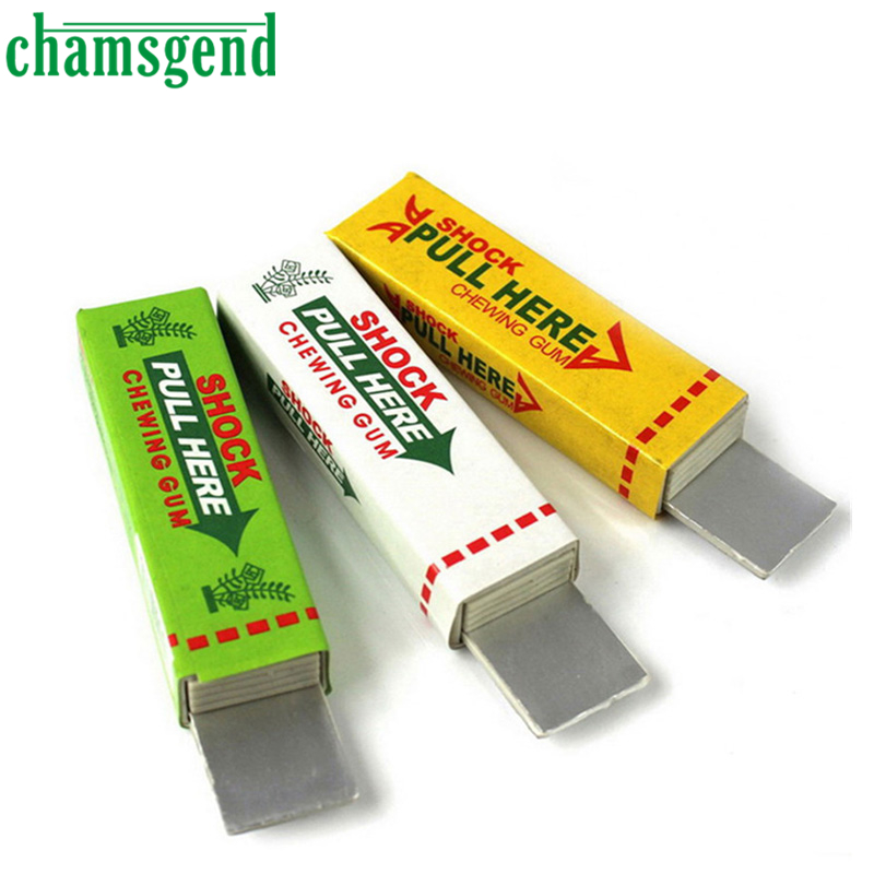 Hot Safety Trick Joke Toy Electric Shock Shocking Funny Pull Head Chewing gum Gags Random Color Levert Dropship Aug25