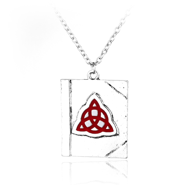 Freeshipping 12pcs A Lot Book Of Shadows Triquetra Celtic Knot Chain