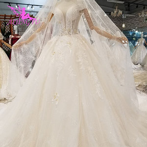 Image 3 - AIJINGYU فستان أبيض بسيط ثوب فاخر متجر الصين Frocks المشاركة الكرة ارتداء للعروس على الانترنت بيع خمر زي العرائس