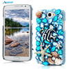 Luxury 3D Bling Crystal Rhinestone Diamond Transparent Hard Plastic Back Cover Case For Samsung Galaxy Note 2 II N7100 7100
