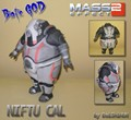 Mass Effect 2 Niftu Cal O Deus da Vida de Modelo De Papel 3D DIY