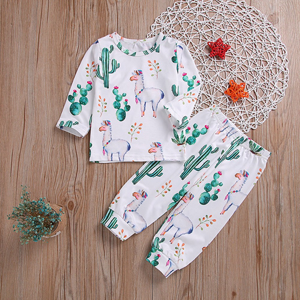 Autumn Outfit Cartoon Sheep Valentines Spring Long-Sleeve Baby-Girls Boys with And Caclus-Cover