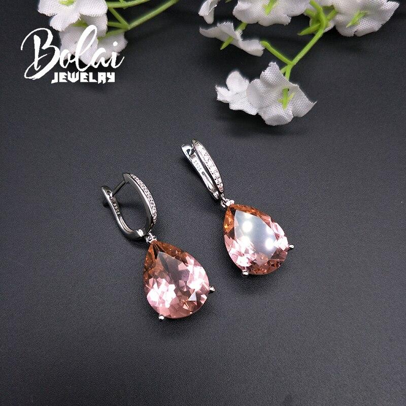 Boucles d'oreilles Bolai diaspora dangle argent sterling 925 changement de couleur pierres précieuses bijoux fins goutte d'oreille pour les femmes grand cadeau