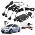 Black 4 Sensors Buzzer 22mm Car Parking Sensor Kit Reverse Backup Radar Sound Alert Indicator Probe System 12V
