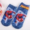 2 par nuevo estilo chicos de impresión 3D calcetines del algodón del hombre araña de dibujos animados carácter fox niños cortos calcetines 4 opciones de patrón 2 tamaño 1-12years
