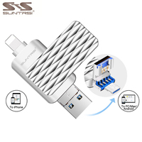 כונן USB Flash Suntrsi עבור iPhone/iPad/אנדרואיד 3 ב 1 עט OTG כונן 64 GB 32 GB כונן USB Flash מקל USB OTG במהירות גבוהה 2.0