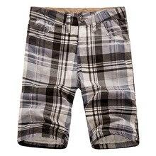 Summer 2017 Fashion soprt bermuda masculine men's boardshorts wholesale cargo shorts cotton casual plaid Shorts men board shorts