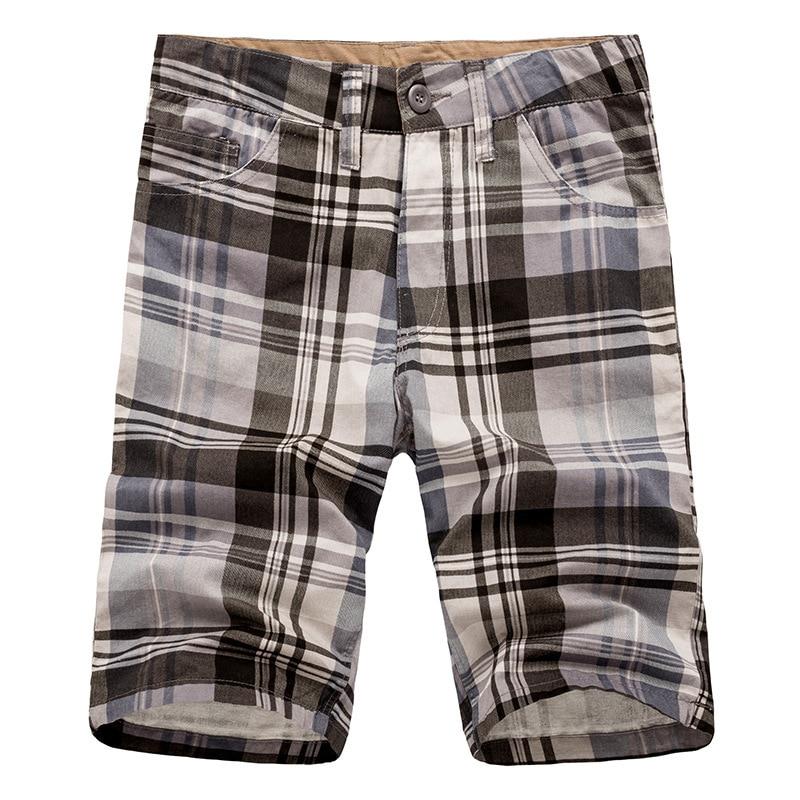 Summer 2018 Fashion soprt bermuda masculine mens boardshorts wholesale cargo shorts cotton casual plaid Shorts men board shorts