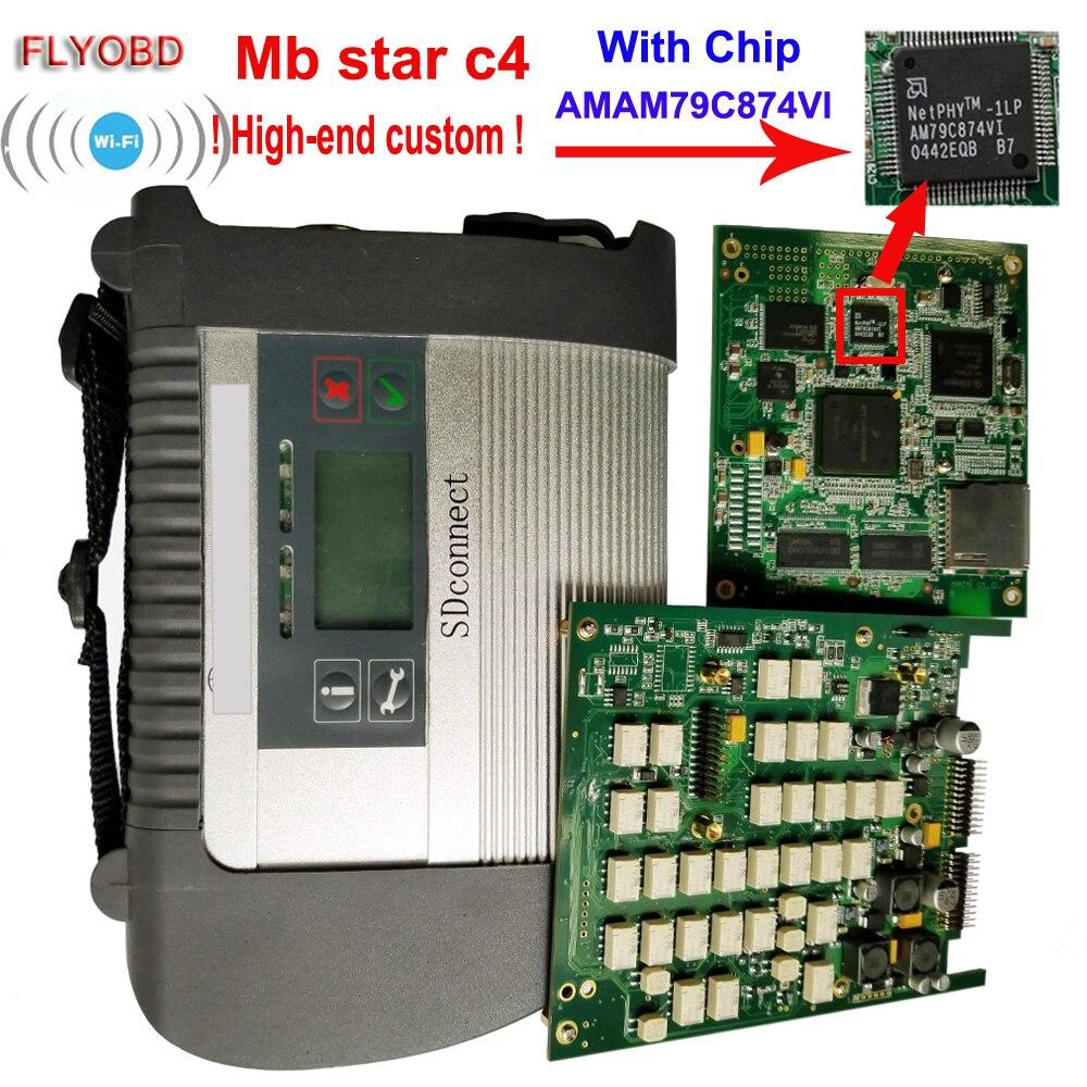 2018 Best Qualità Star C4 con ADG426 e AM79C874VI Chip MB STzAR SD Collegare C4 Compatto 4 Strumento di Diagnostica con il funzione di WIFI