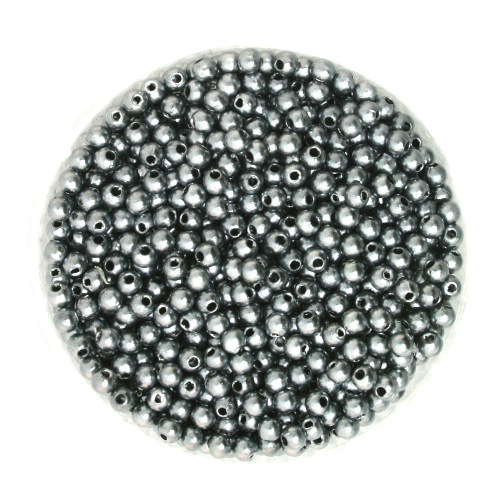 Grey Pearl Beads: Plastic 2000pcs/lot Grey Imitation Pearl Round Beads 4mm