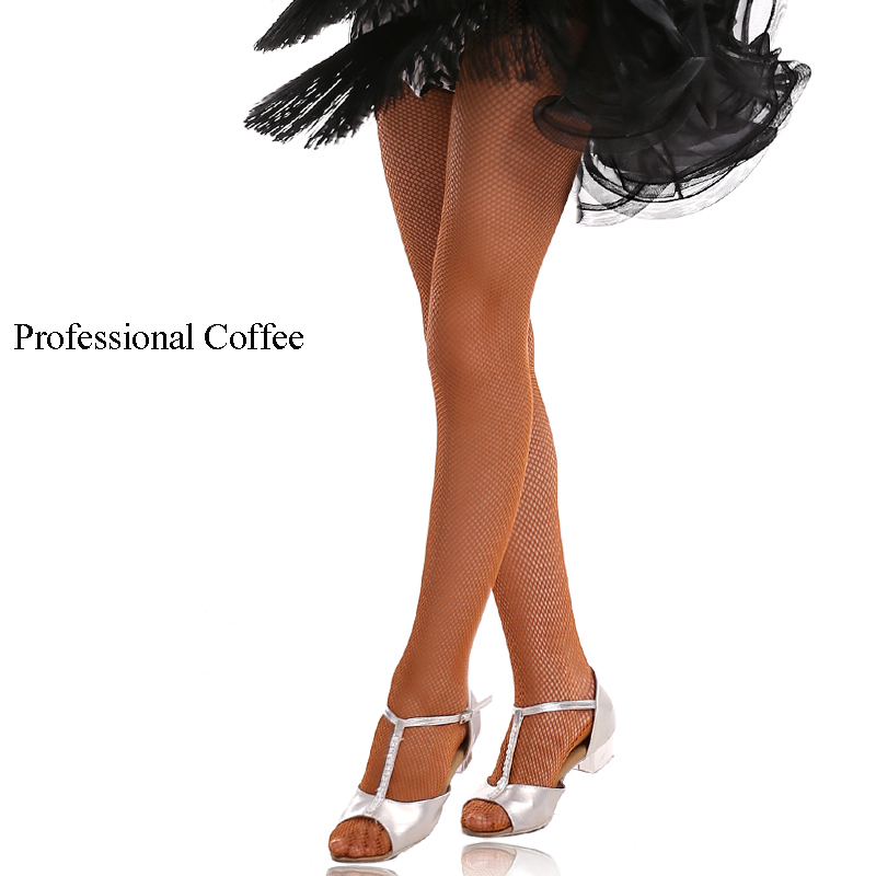Professional Children Latin Net Stockings Adults Sexy Salsa Samba Tango Pantyhose  Dance Tights For Girls tights
