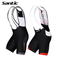 Santic Cycling Shorts 4D Breathable Padded Quick Dry Mesh Brace MTB Downhill Riding Shorts Mountain Bicycle