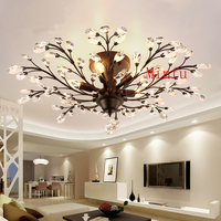 Creative Modern living room ceiling lights creative personality clothing store lamp restaurant bedroom led crystal ceiling lamps
