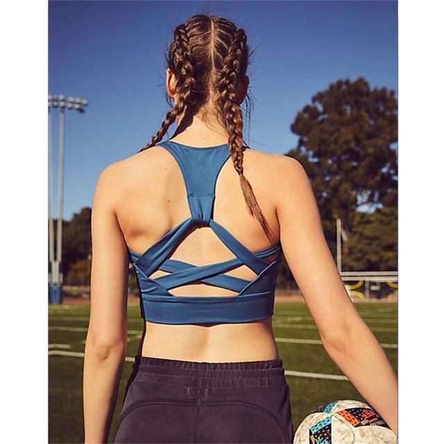 ea42cd789f Oyoo high impact retro sports bra red cropped yoga bras for women fitness  sport bra top compression underwear gym brassiere HEAT