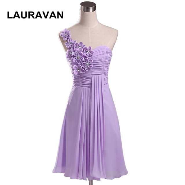 Cheap Ladies Chiffon Light Purple Sweetheart Knee Length Bridesmaid