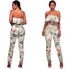 RAISEVERN 2 Piece Flora Crop Top And Pants Women Set 2018 Summer Fashion Ruffles Top and Pants Casual Clothing Women Suit Set