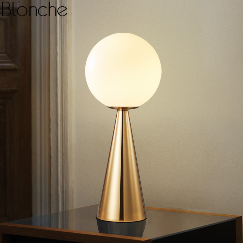 Modern Glass Ball Led Table Lamp for Living Room Bedroom Bedside Lamp Nordic Study Desk Light Fixtures Industrial Home Decor E14 nordic post modern denmark creative chandelier art crown bar coffee shop decoration light dining lights