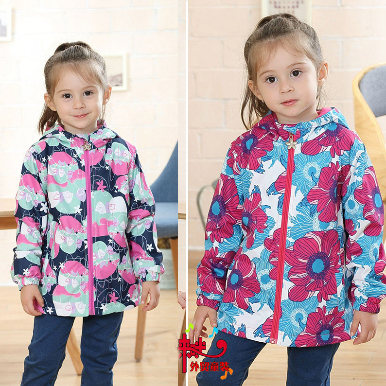 new girls/children/kids spring/autumn jacket, 3 colors for option, warm fleece lining, girls windbreaker, size 98 to 146