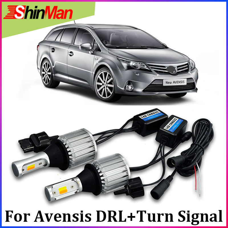 ShinMan WY21W 7440 T20 LED led Turn Signals led daytime running light drl turn light daylight For <font><b>Toyota</b></font> Avensis <font><b>T27</b></font> 2009-2014 image