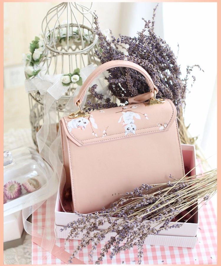 x5 New Sale Bolsas Mujer Small Peekaboo Saddle Faux Leather PU Pink Cat Floral Women\'s Handbags For Lady  Messenger Bags Totes