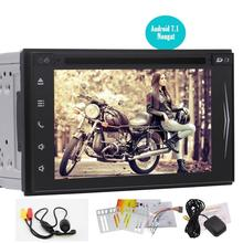 Android 7.1 Double Din HeadUnit Car Stereo GPS Bluetooth Autoradio DVD CD Player RDS FM/AM Receiver Support WIFI OBD+Rear Camera