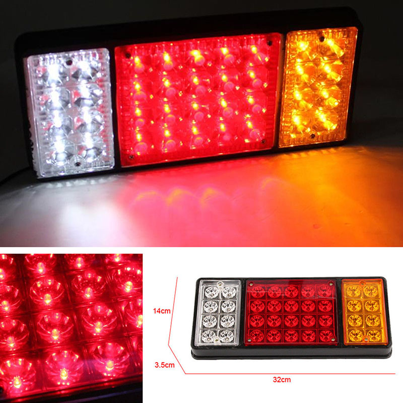 Mayitr 12V 36 LED Rear Tail Light Car Truck Brake Stop Indicator Lamp Trailer Caravan Reverse External Light Amber Red White 2pcs 20 led car truck red amber white led trailer waterproof tail lights turn signal brake light stop rear lamp dc 12v cy798 cn
