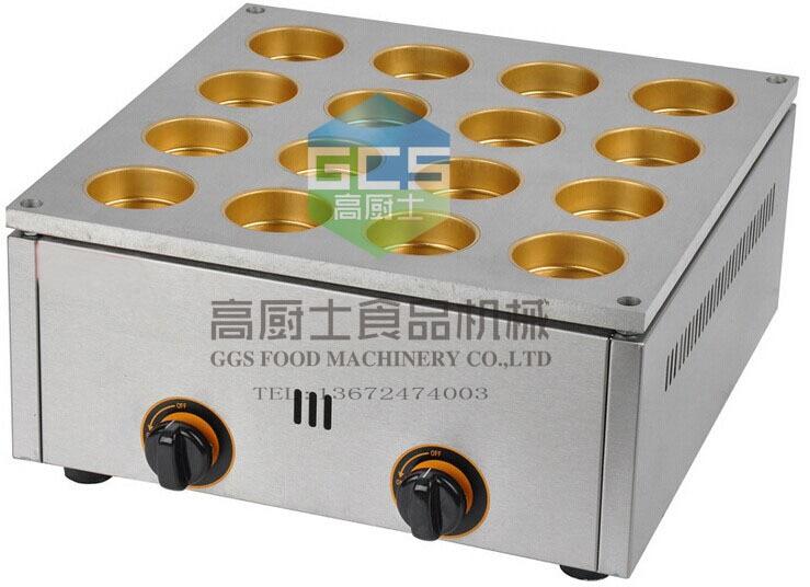 Free shipping 16 hole GAS type red bean maker machine  dessert cake machine