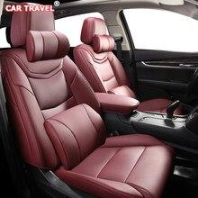 VIAGEM de CARRO De Couro Personalizado tampas de assento do carro Para ROEWE 550 350 360 750 950 W5 E50 E950 E550 RX5 i6 ei6 RX3 ei5 RX8 i5 assentos de carro