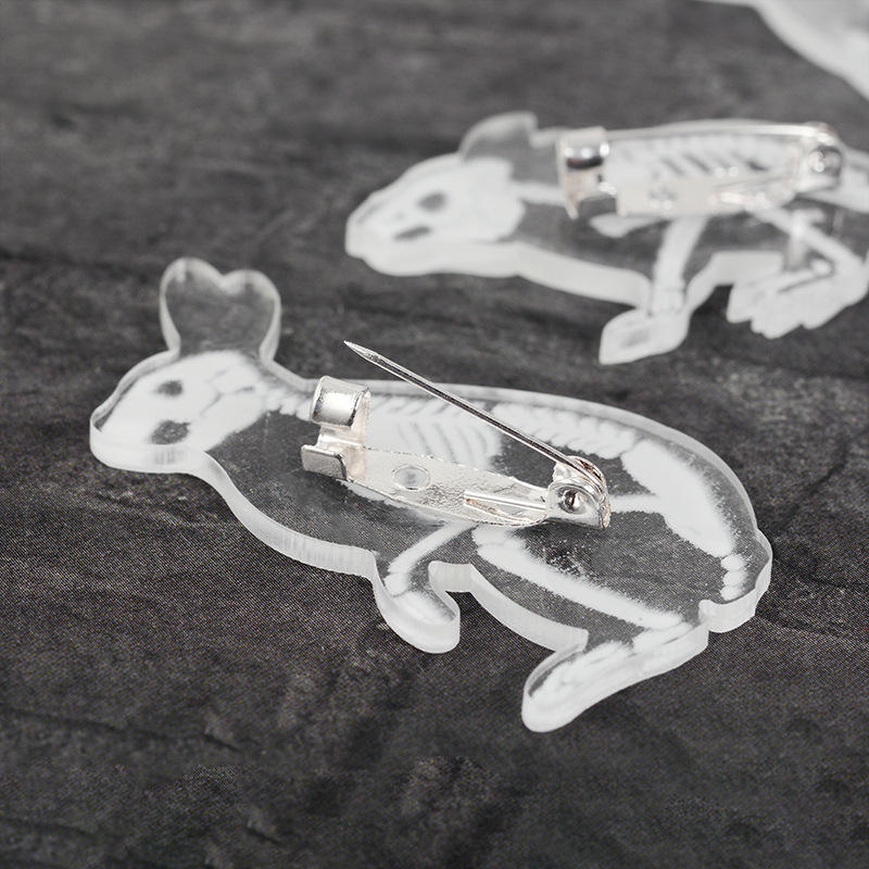 Jewelry & Accessories Brooches Animal Brooch Acrylic Transparent Pig Cat Penguin Rabbit Penguin Petrochemical Brooch Cap Backpack Clothes Accessories Gifts