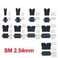 В общей сложности 20 блоков SM2.54 разъемы 2/3/4/5/6/7/8/9/10/11/12 шпильки 2,54 мм мужского и женского пола Корпус с терминалы SM-2P SM-2R JST