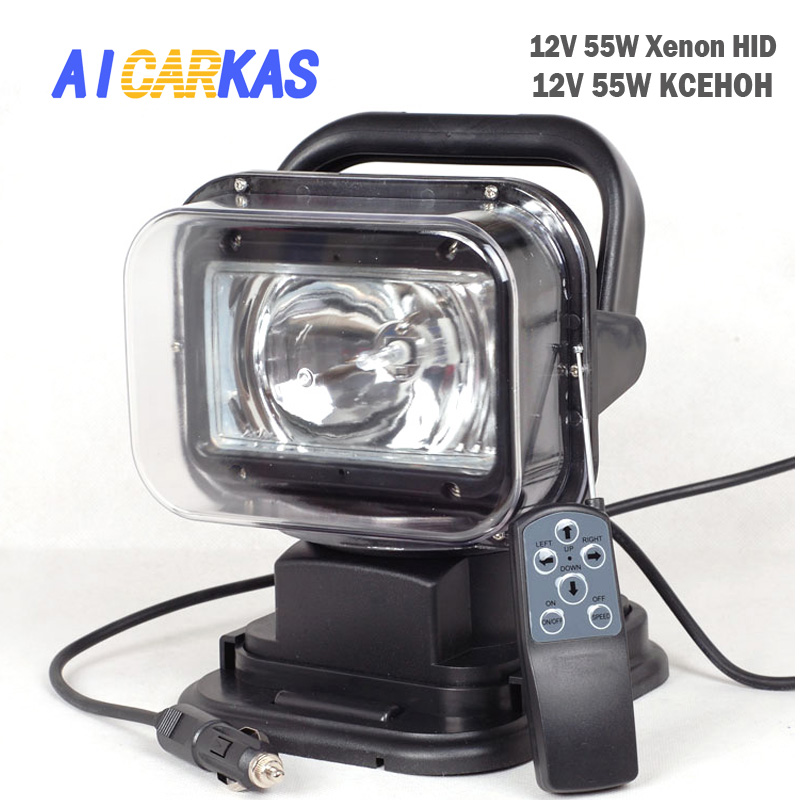 AICARKAS 12V 55W 6000K HID Xenon Searching Light With Magnetic Base IP65 Xenon White Spot Beam Search Light For Off road SUV Car цена