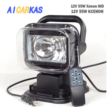 AICARKAS 12V 55W 6000K HID Xenon Searching Light With Magnetic Base IP65 Xenon White Spot Beam Search Light For Off road SUV Car