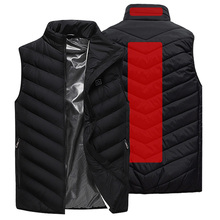 USB Heated Vest Men Winter Outdoor Sleevless Jacket Mens Self Heating Ski Waistcoat Hiking Heater Vests AM356